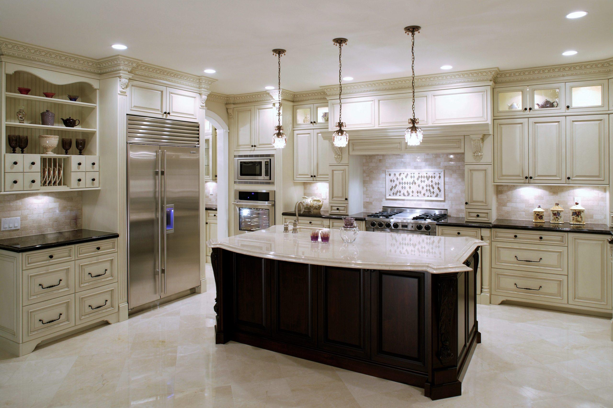 white kitchen modern house mansion